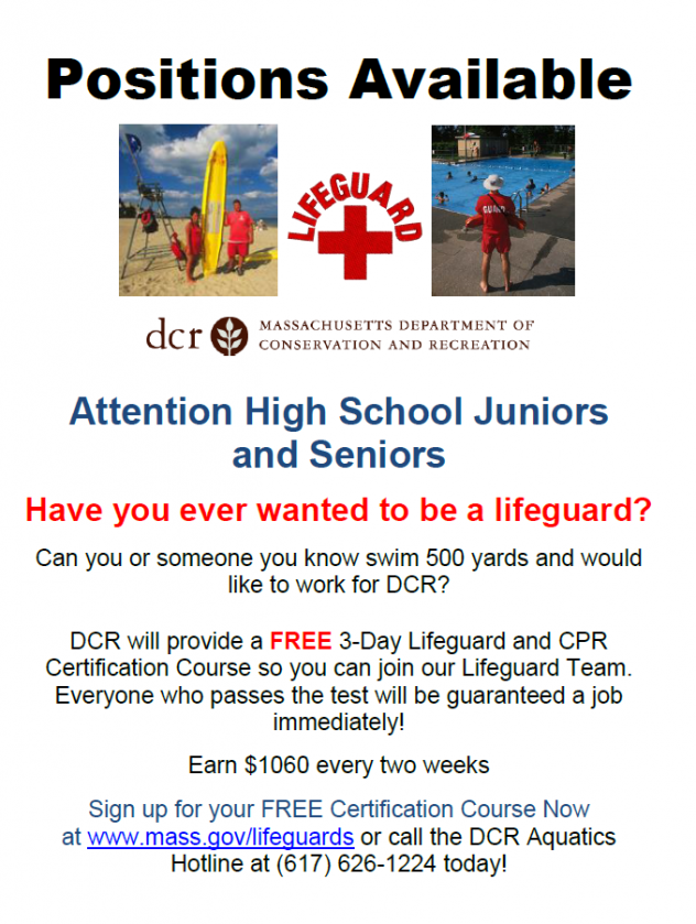Lifeguard Jobs for Juniors and Seniors!! NO EXPERIENCE NEEDED